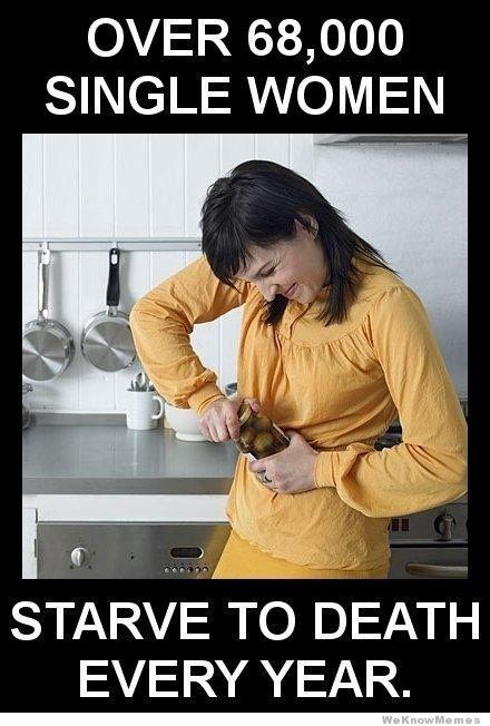 single women starve